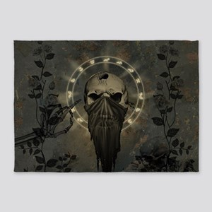 Awesome creepy skull 5'x7'Area Rug