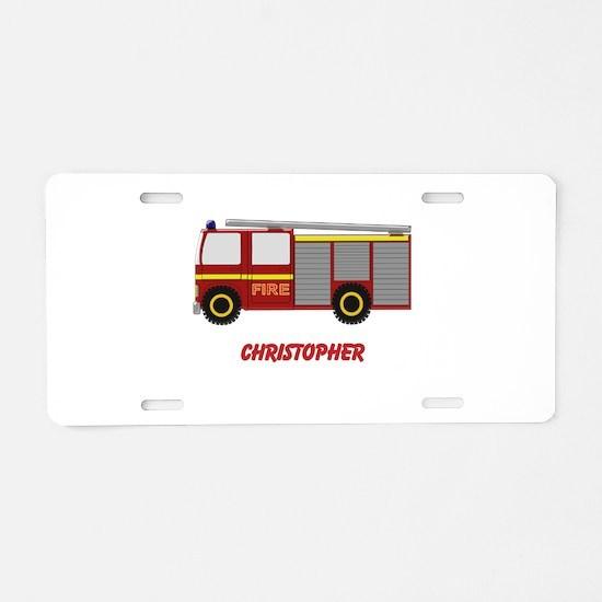 Personalized Fire Engine Design Aluminum License P