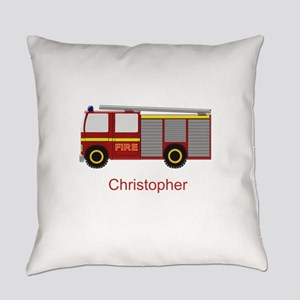 Personalized Fire Engine Design Everyday Pillow