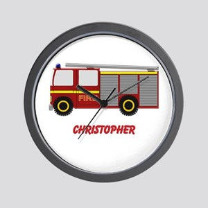 Personalized Fire Engine Design Wall Clock