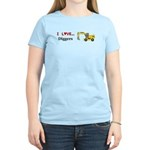 I Love Diggers Women's Light T-Shirt