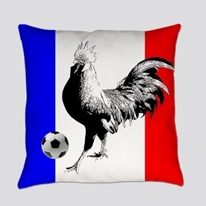 French Football Flag Everyday Pillow