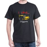 I Love Diggers Dark T-Shirt