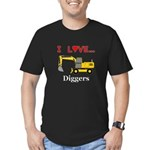 I Love Diggers Men's Fitted T-Shirt (dark)