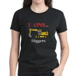 I Love Diggers Women's Dark T-Shirt