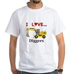 I Love Diggers White T-Shirt