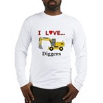 I Love Diggers Long Sleeve T-Shirt