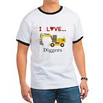 I Love Diggers Ringer T