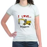 I Love Diggers Jr. Ringer T-Shirt