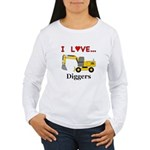 I Love Diggers Women's Long Sleeve T-Shirt