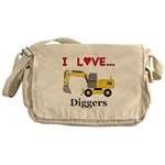 I Love Diggers Messenger Bag