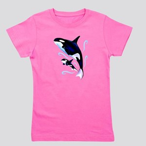 Orca Mom and Baby T-Shirt