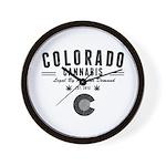 Colorado Cannabis Wall Clock
