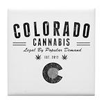 Colorado Cannabis Tile Coaster