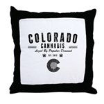 Colorado Cannabis Throw Pillow