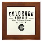 Colorado Cannabis Framed Tile