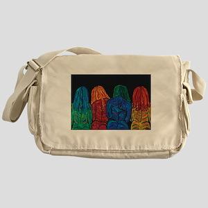 Four Female Abstract Body Portrait Messenger Bag