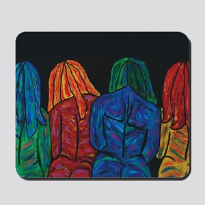 Four Female Abstract Body Portrait Mousepad