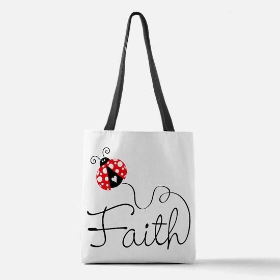 Ladybug Faith Polyester Tote Bag
