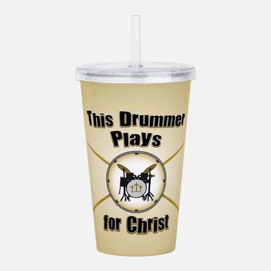 Drum For Christ Acrylic Double-wall Tumbler