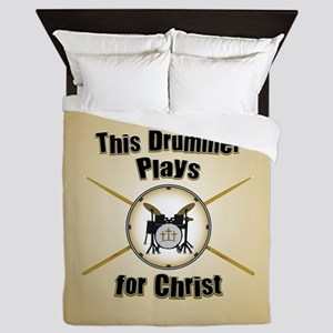 Drum For Christ Queen Duvet