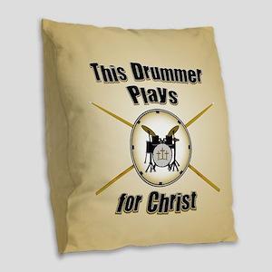 Drum For Christ Burlap Throw Pillow