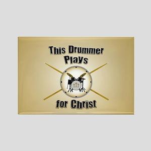 Drum For Christ Rectangle Magnet