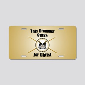 Drum For Christ Aluminum License Plate