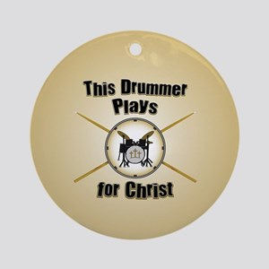 Drum For Christ Round Ornament