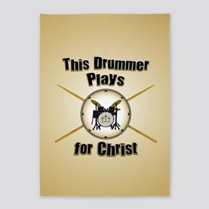 Drum For Christ 5'x7'Area Rug