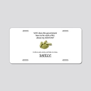 Government Pill Aluminum License Plate