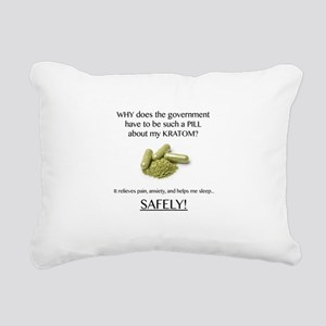 Government Pill Rectangular Canvas Pillow
