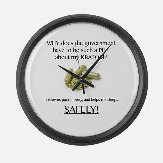 Government Pill Large Wall Clock