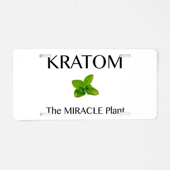 Kratom Miracle Aluminum License Plate