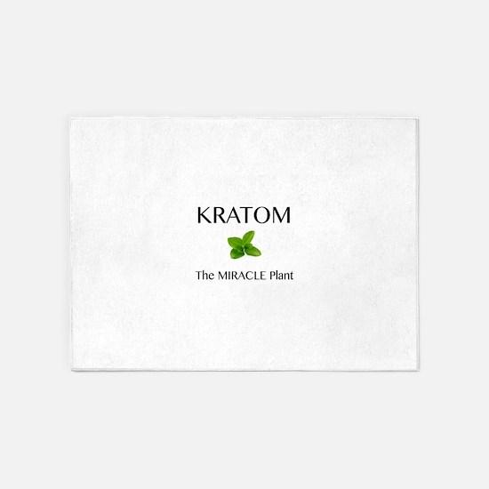 Kratom Miracle 5'x7'Area Rug