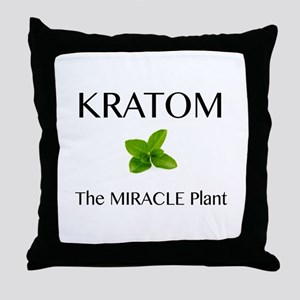 Kratom Miracle Throw Pillow