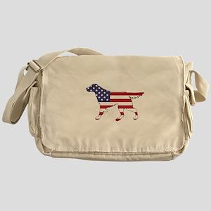Setter - American Flag Messenger Bag