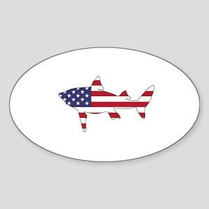 Shark - American Flag Sticker