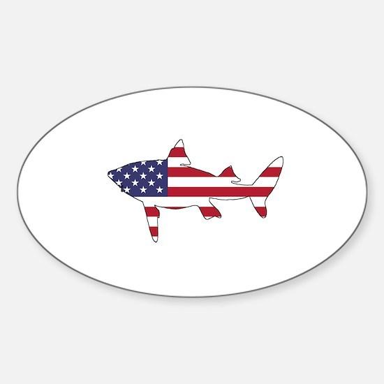 Shark - American Flag Decal