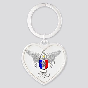 French Graphic Heart Keychain