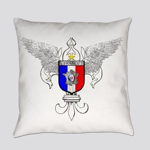 French Graphic Everyday Pillow