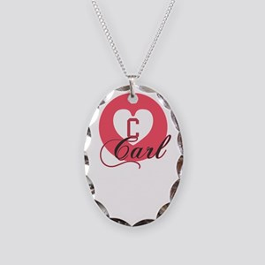 carl Necklace Oval Charm