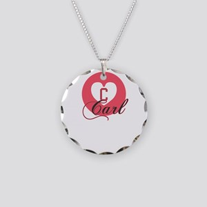 carl Necklace Circle Charm
