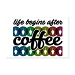 Life begins after coffee Poster Print (Mini)