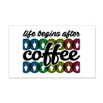 Life begins after coffee Wall Sticker