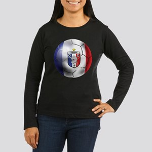 French Soccer Ball Women's Long Sleeve Dark T-Shir