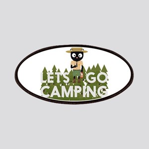 Camping Cat in Park Ranger uniform Patch