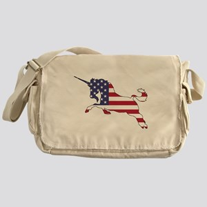 Unicorn - American Flag Messenger Bag