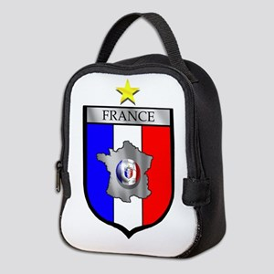 French Football Shield Neoprene Lunch Bag