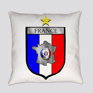 French Football Shield Everyday Pillow